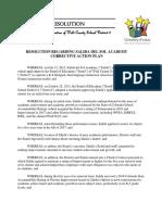 Resolution Regarding Salida Del Sol Academy Corrective Action Plan