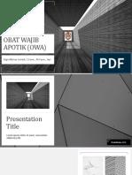 Presentation obat wajib apotik