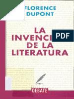DUPONT, Florence, La Invención de La Literatura, Madrid, 2001
