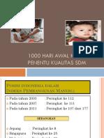 1000 Hari Awal Kehidupan Penentu Kualitas SDM