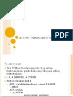 Acute Coronary Syndrome, STEMI
