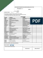 Check List Equipos Pesados Excavadora Hidraulica Cat 320