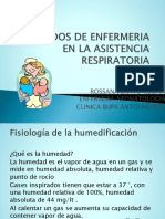Cuidados de Enfermeria en La Asistencia Respiratoria