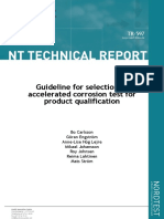 75753722 Guideline for Selection of Accelerated Corrosion Test