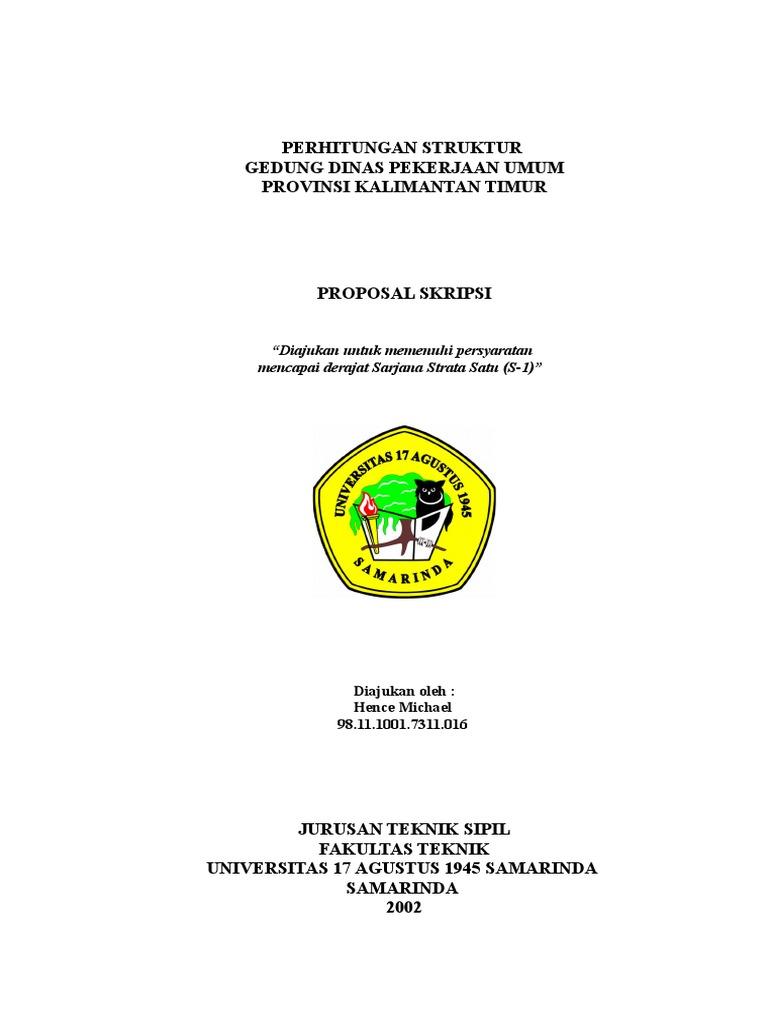 Contoh 01 Cover Proposal Skripsi Doc