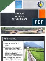 Irigasi.modul 1 Sistem Irigasi