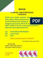 Invitación Mitin Puerto Maldonado