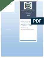 Proyecto Participacion 2018. Formato