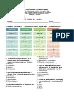 Examen Quimica IV Periodo Grado 6