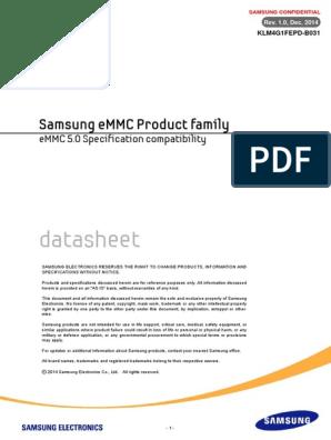 Klm4g1fepd-b031(Emmc5 0 1xnm Based Emmc)1 0 | Flash Memory | Booting