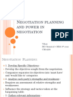 Negotiation Planning and Power in Negotiation - Copy