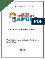 Carpeta Pedagógica AFUL