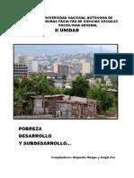 Pobreza, desarrollo y subdesarrollo