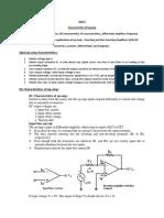 Characteristics of OP-AMP