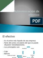 6 Administracion de Efectivo
