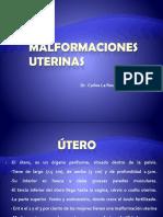 Utero Malformaciones Uterinas.