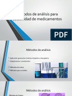 Métodos de Análisis Para Estabilidad de Medicamentos