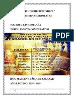 ENSAYO COMPARTIVO DE SAN MATEO 13 Y APOCALIPSIS 2 Y 3.docx