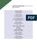 Juan Karlos Labajo Lyrics