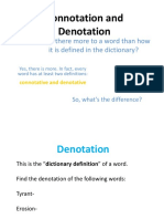 Connotation and Denotation Powerpoint