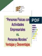 PF Act Emp vs PM Ventajas y Desventajas