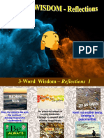 3-Word Wisdom - Reflections
