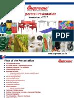 Supreme Corp Presentation Nov 2017