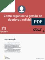 eBook. Como Organizar a Gestão de Doadores Individuais ABCR_EATS