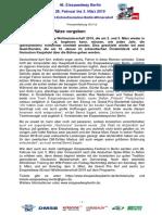 Eisspeedway Berlin 2019, Pressemitteilung 181112
