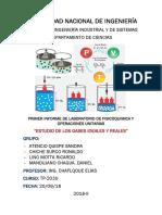 Laboratorio N°1 FISICOQUÍMICA Y OPERACIONES UNITARIAS FIIS UNI