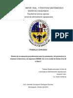 Manual Procedimientos Para Contratacion de Personal