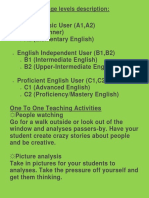 English Levels