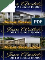 MURAH BERKUALITAS !!!, 0812 8462 8080 (Call/WA), Jasa Arsitek Rumah Minimalis Jakarta
