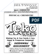 CLASS 12 PHYSICAL Diwali Assignment Chemistry