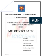 MIS of ICICI Bank Final