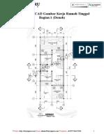 Ebook AutoCAD Gambar Kerja Rumah Tinggal Bagian 1 - Denah Ruang.pdf