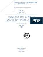 Power of SC in transfer of cases