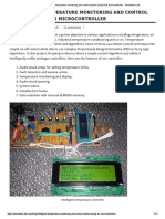 Intelligent Temperature Monitoring and Control System Using AVR Microcontroller - Embedded Lab