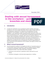 Dealing With Sexual Harassment in the Workplace Guidance