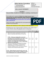 Checklist f Action Research