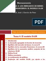 Tema 4 Gade Modelo is-lm 2018-19