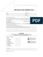Aisd Honor Choir Audition Form