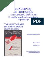 CHEVALLARD-esrudiar matematicas cap 2