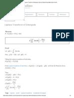 Laplace Transform of Intergrals _ Advance Engineering Mathematics Review
