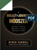 RYDER CAROLL - A BULLET JOURNAL MÓDSZER