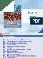 Chem 45 Biochemistry Stoker Chapter 24 Carbohydrate Metabolism