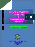 BEmONC Participant's Handout