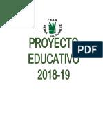 Proyecto Educativo 18-19 Versión 00