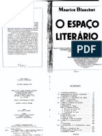 BLANCHOT Maurice O Espaco Literario PDF