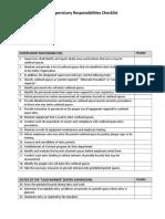 Supervisory Responsibilities Checklist Ps